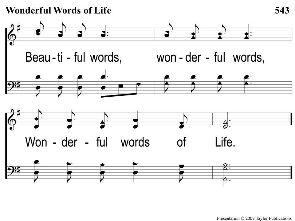 Opt descant 3-1 Wonderful Words of Life Wonderful Words of Life543