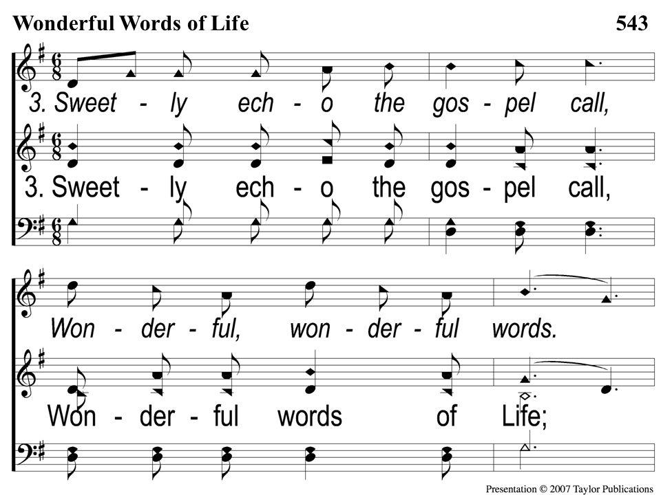 Opt descant 3-2 Wonderful Words of Life Wonderful Words of Life543