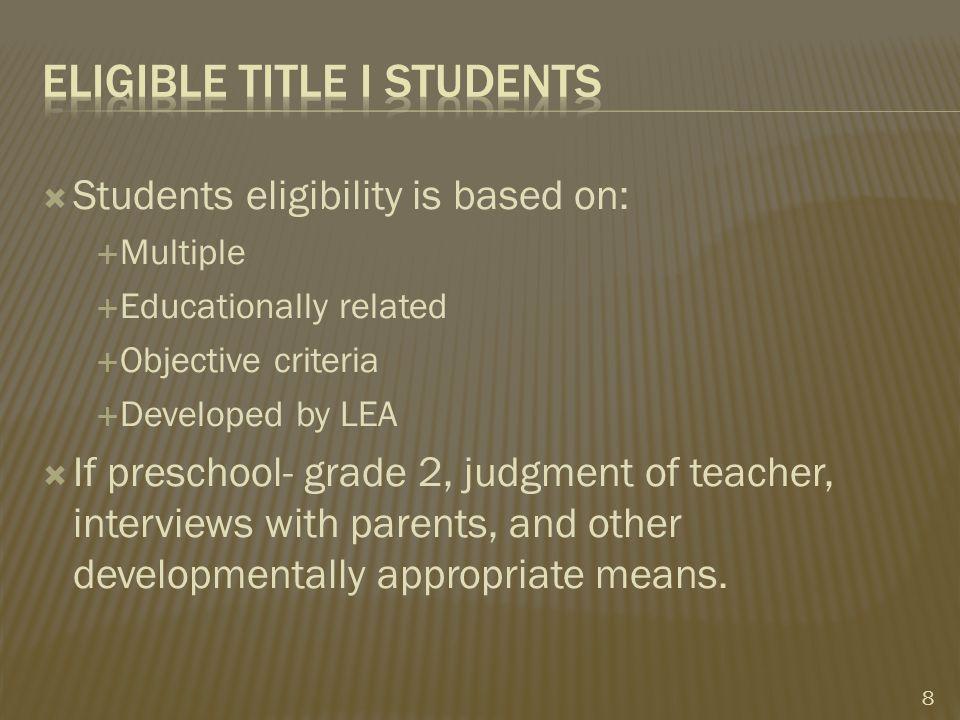  Skip school, if: 1.Comparability met 2.