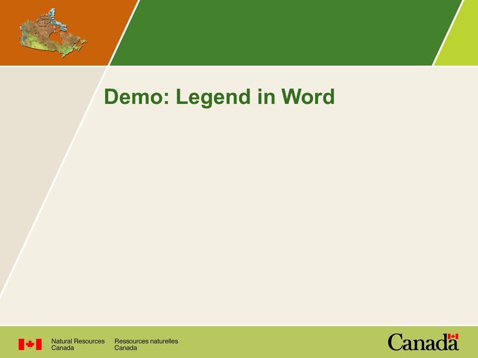 Demo: Legend in Word