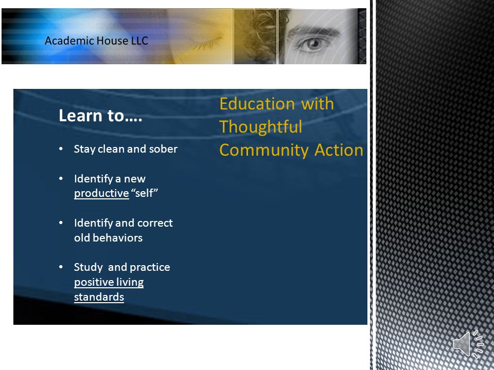 Education with Thoughtful Community Action Learn to….