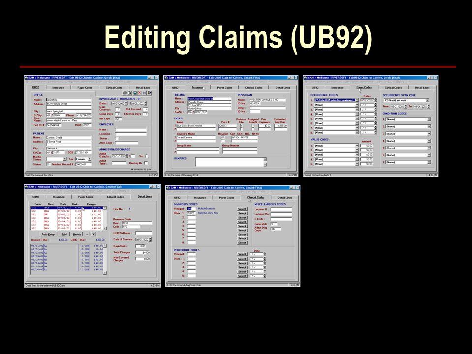 Editing Claims (UB92)