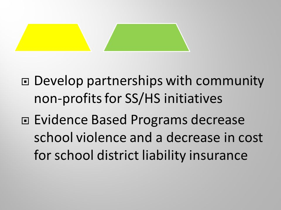  Comprehensive School Health Centers  The Mental Health Services Act (MHSA), Proposition 63, enacted by voters Nov.