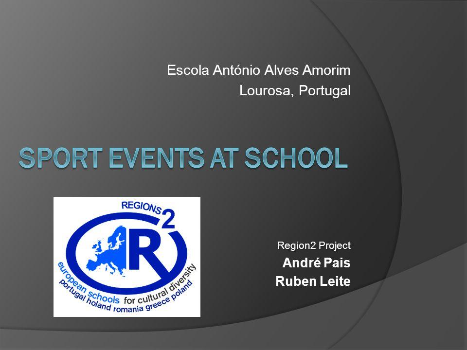 Escola António Alves Amorim Lourosa, Portugal Region2 Project André Pais Ruben Leite