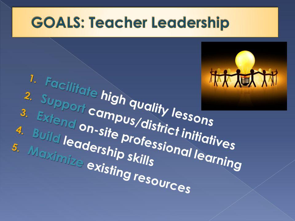 1. Facilitate 1. Facilitate high quality lessons 2.