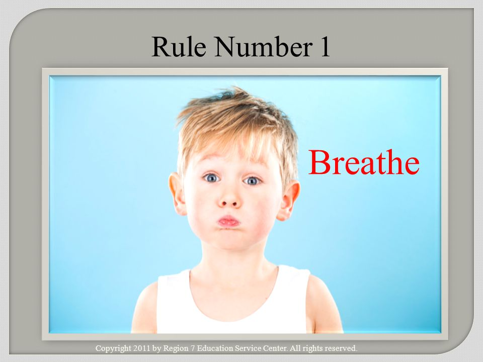 Rule Number 1 Breathe