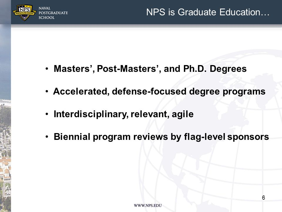 6 Masters', Post-Masters', and Ph.D.