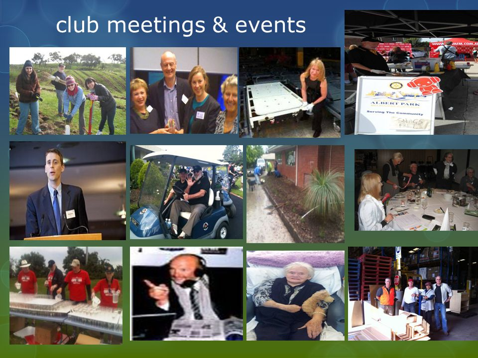 club meetings & events