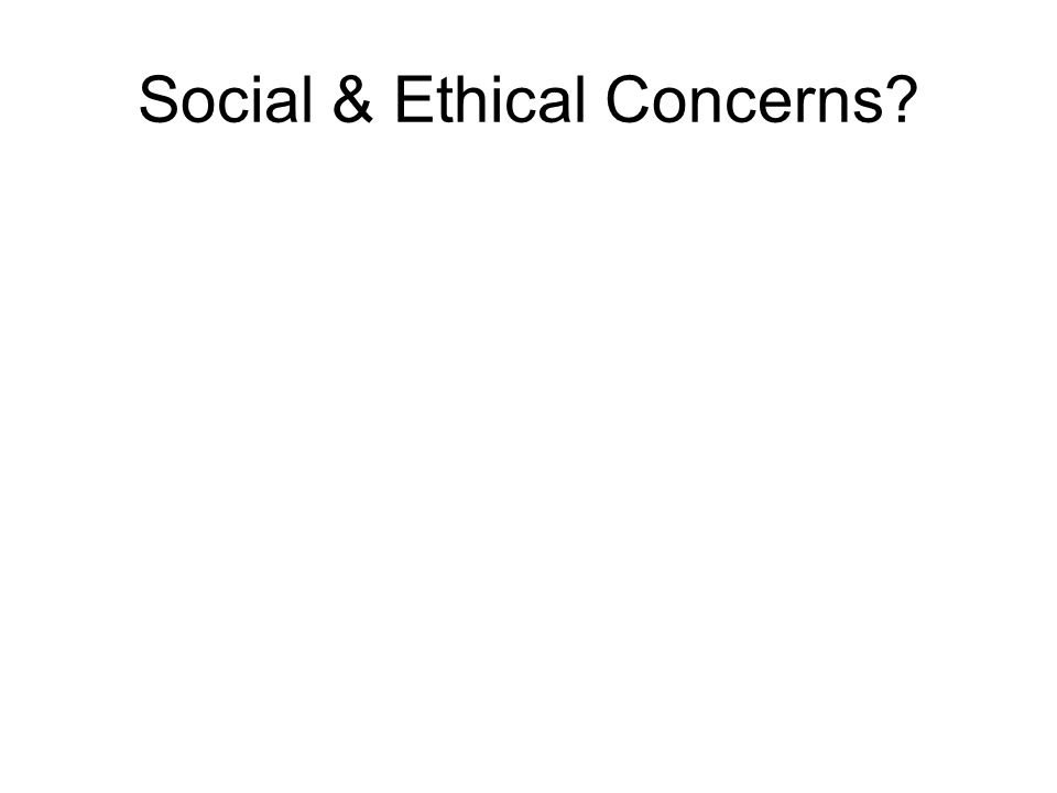 Social & Ethical Concerns