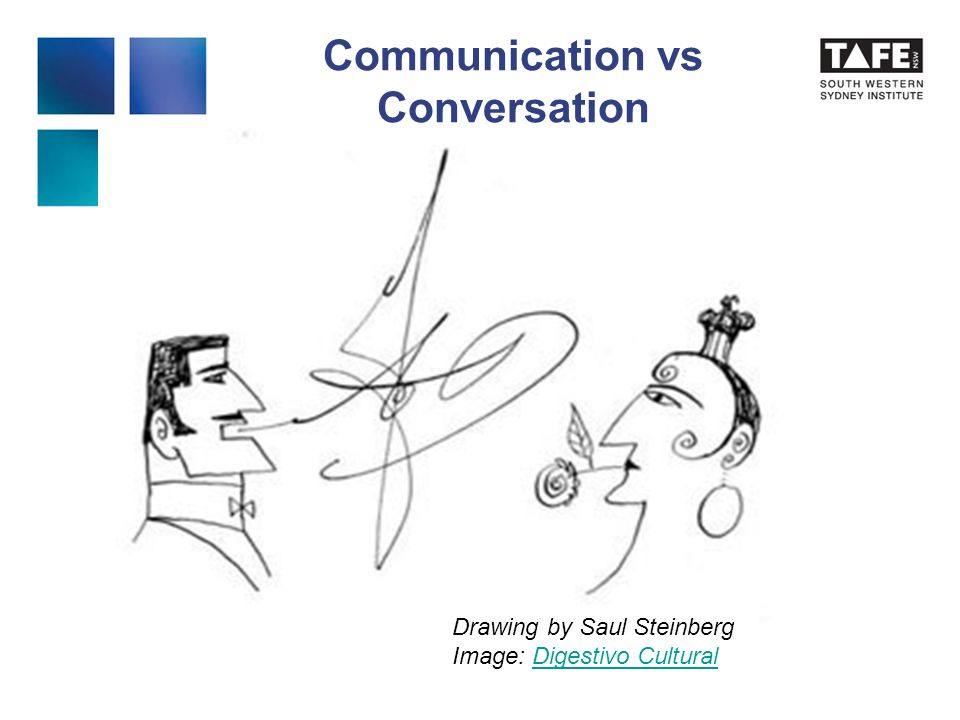 Communication vs Conversation Drawing by Saul Steinberg Image: Digestivo CulturalDigestivo Cultural