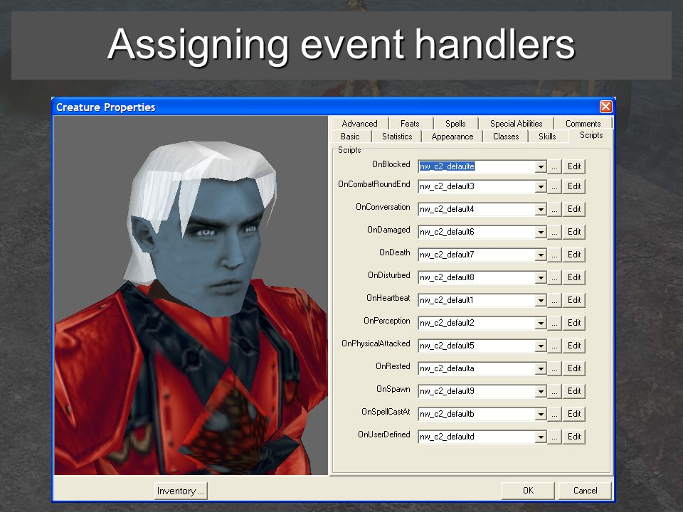 Assigning event handlers