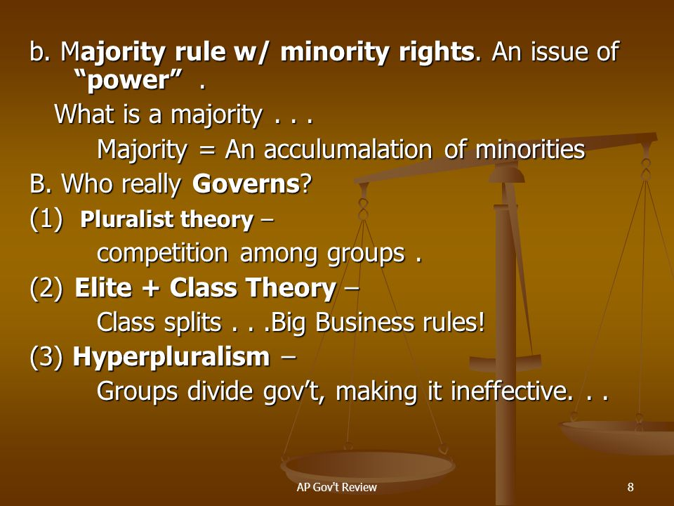 AP Gov t Review29 2.WHO establishes our political value system...Who sets the agenda.