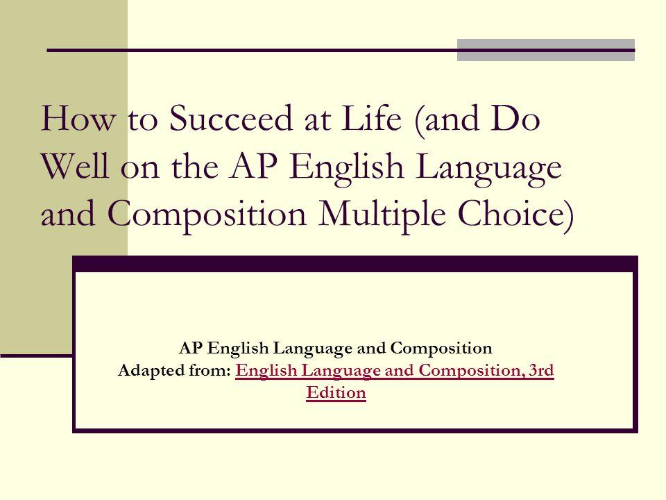 Ap english language and composition essays
