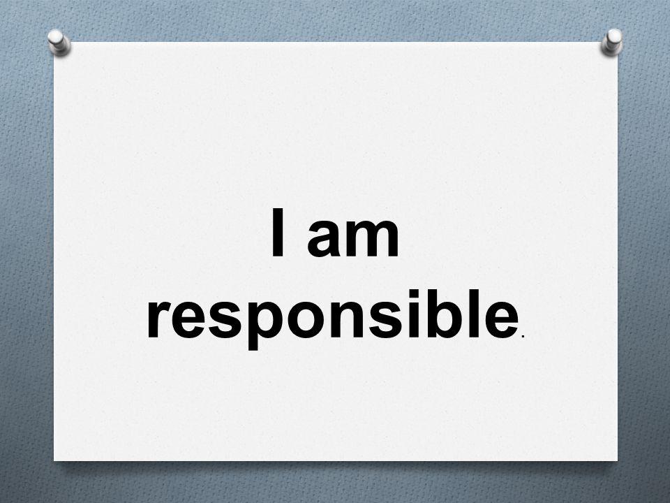 I am responsible.