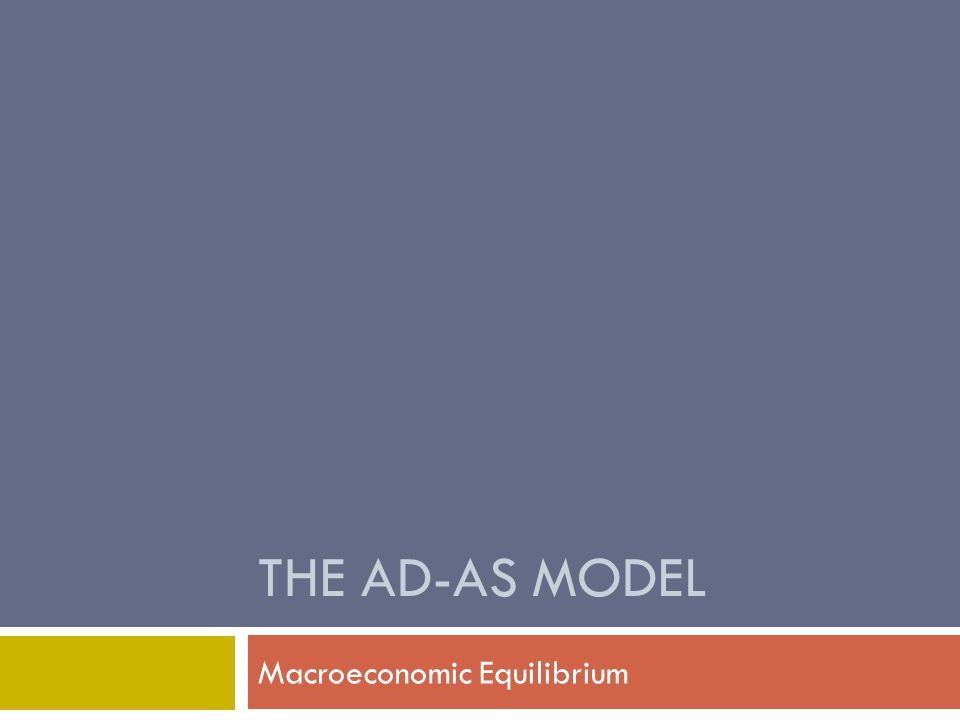 Short-Run Macroeconomic Equilibrium  Short-run equilibrium (E SR ) is the point where AD curve intersects the SRAS curve.
