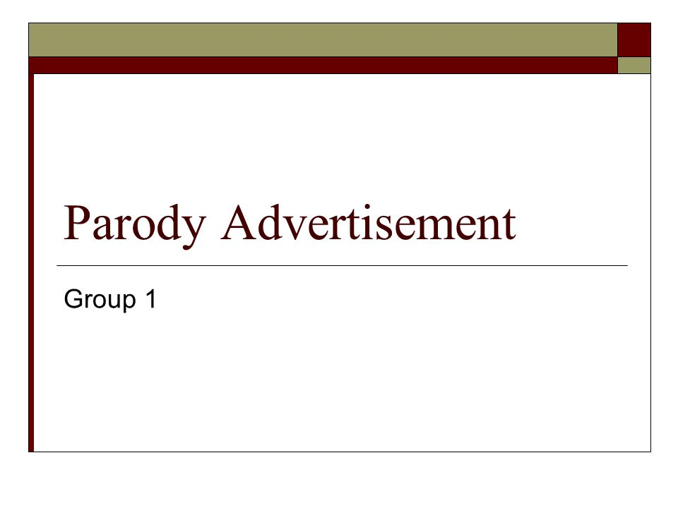 Parody Advertisement Group 1