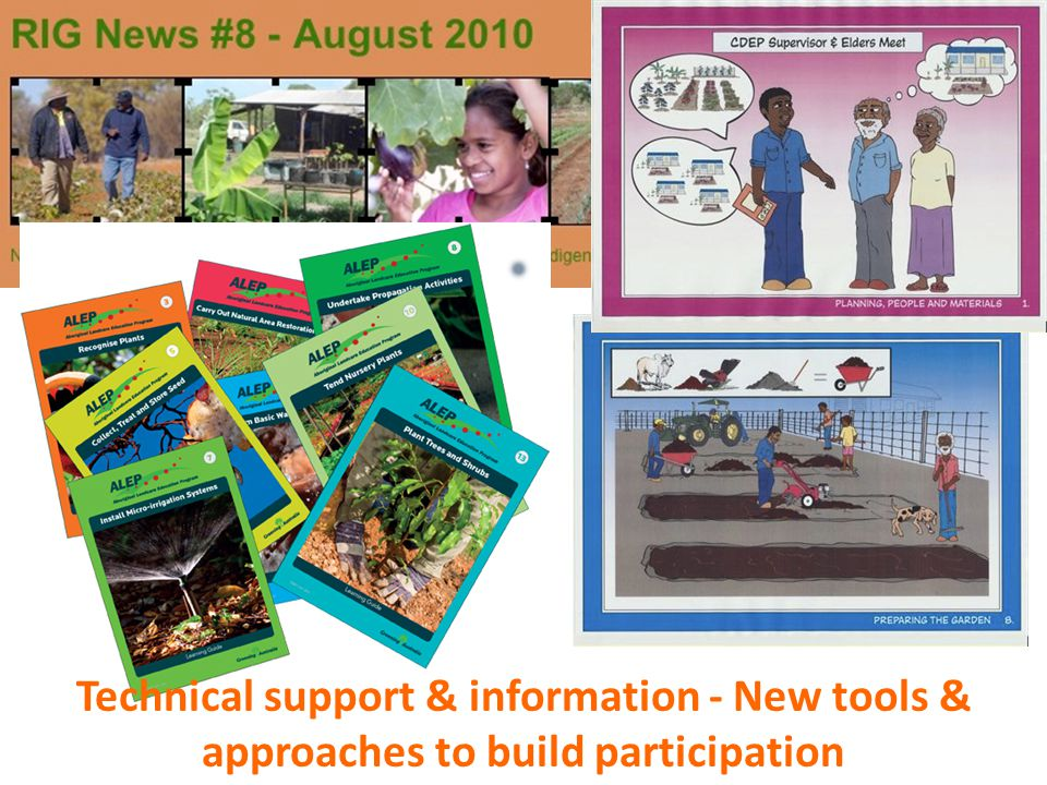 Technical support & information - New tools & approaches to build participation