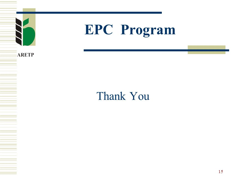 15 EPC Program Thank You