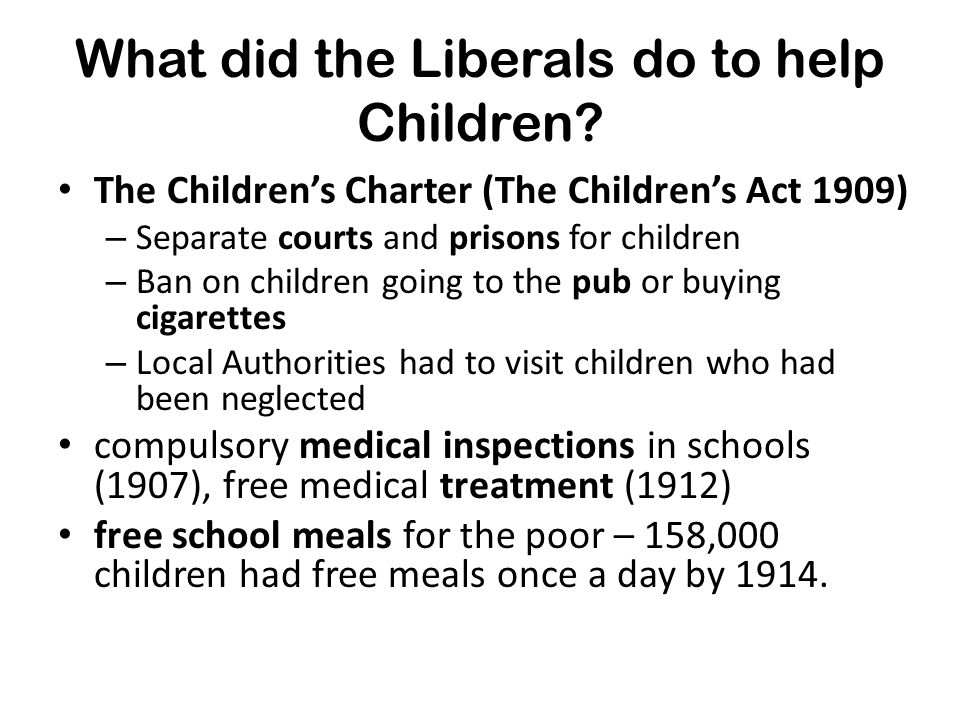 What did the Liberals do to help old people.