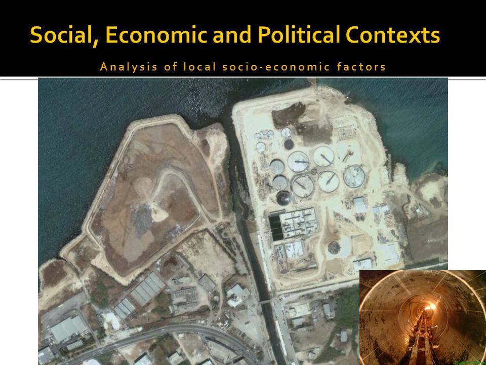 Analysis of local socio-economic factors