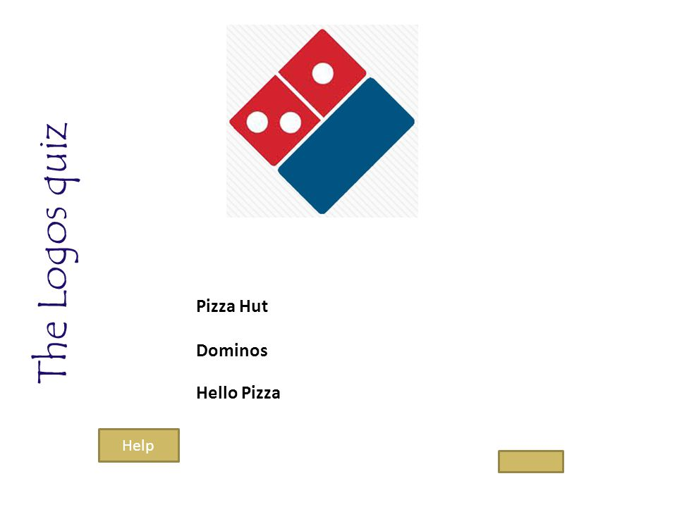 The Logos quiz Pizza Hut Dominos Hello Pizza Help