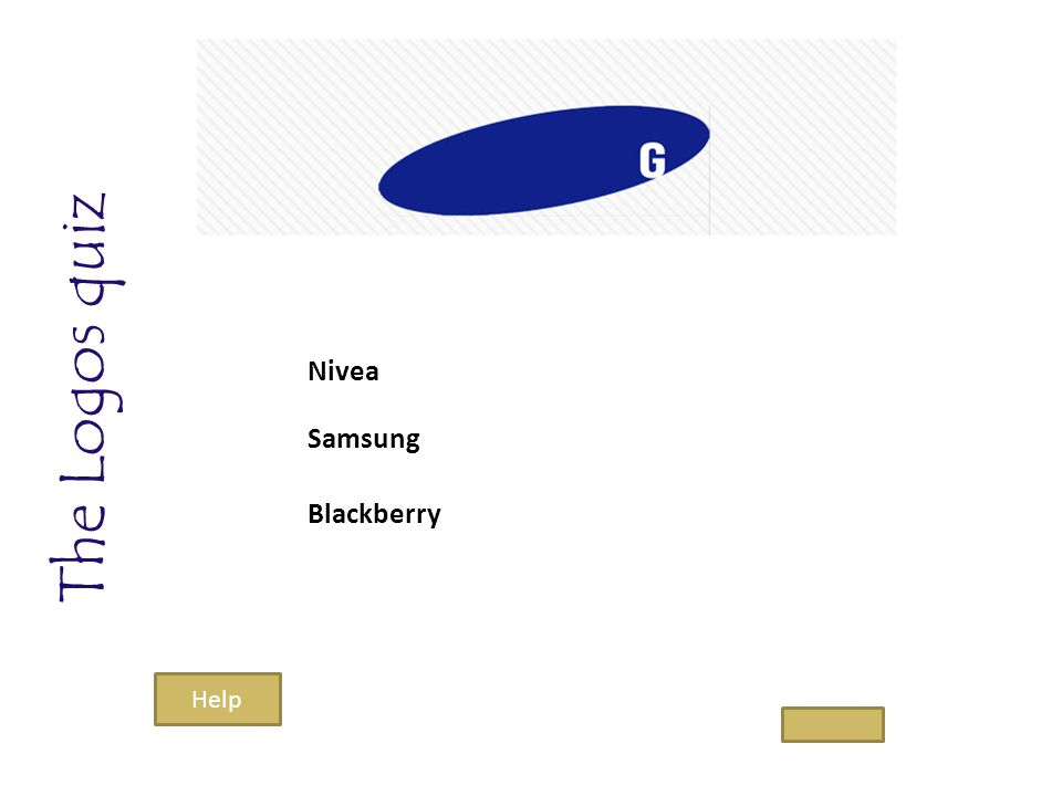 The Logos quiz Nivea Samsung Blackberry Help