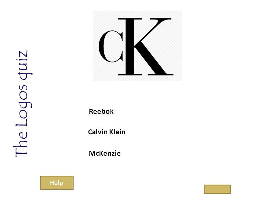 The Logos quiz Calvin Klein McKenzie Reebok Help