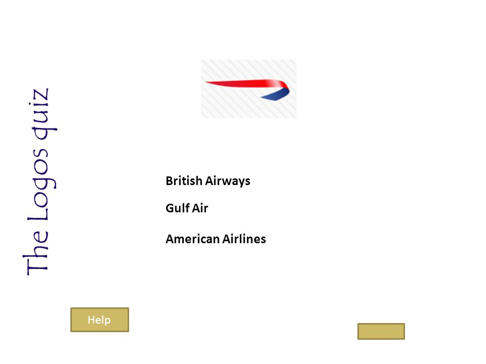The Logos quiz British Airways Gulf Air American Airlines Help