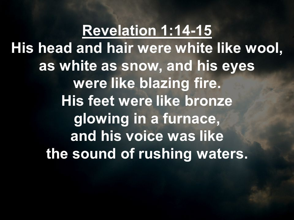 Revelation 1:16-17 In his right hand he held seven stars, and out of his mouth came a sharp double-edged sword.