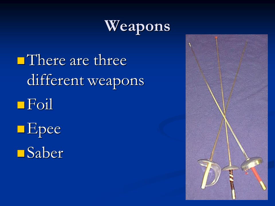 No! You need a weapon
