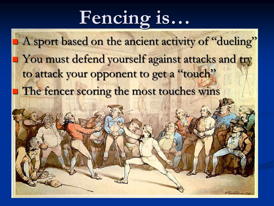 What is fencing ?