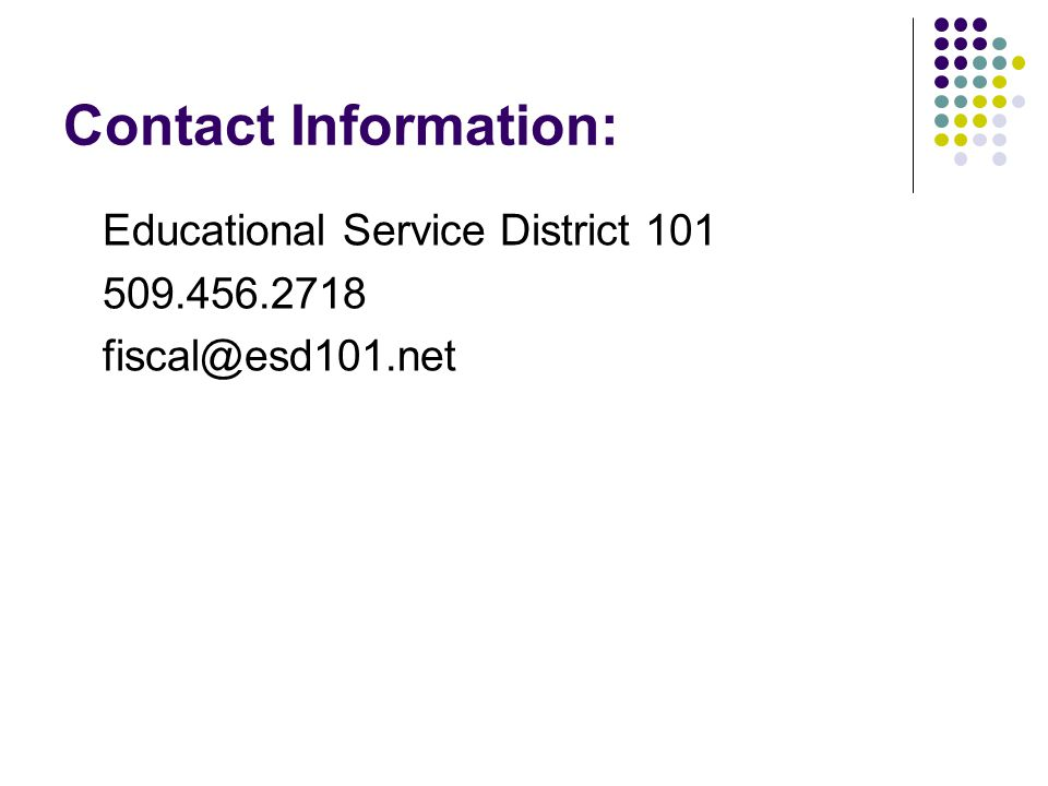 Contact Information: Educational Service District
