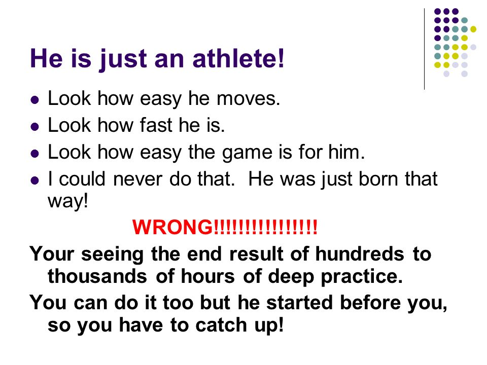 He is just an athlete. Look how easy he moves. Look how fast he is.