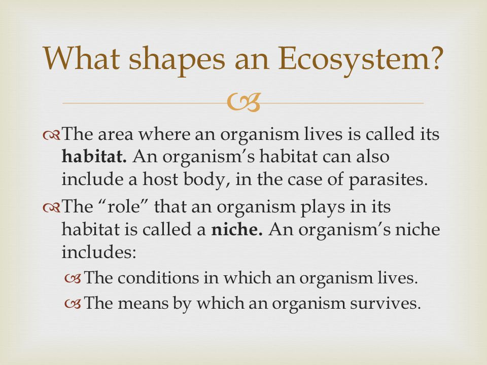   Ecosystems do NOT stay constant over time.