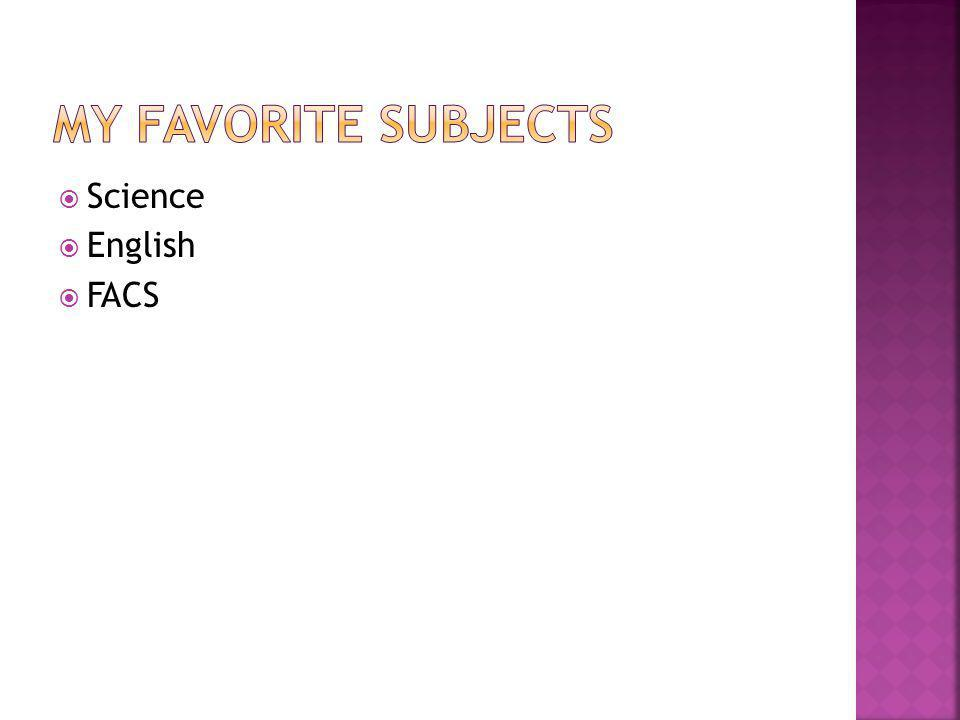  Science  English  FACS