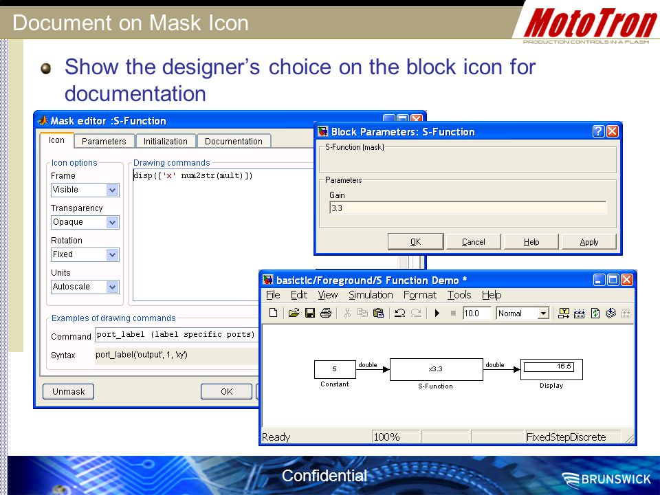 Confidential Document on Mask Icon Show the designer's choice on the block icon for documentation