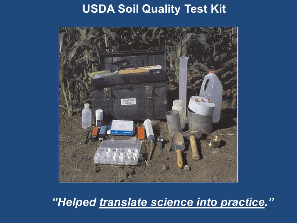 USDA Soil Quality Test Kit Helped translate science into practice.