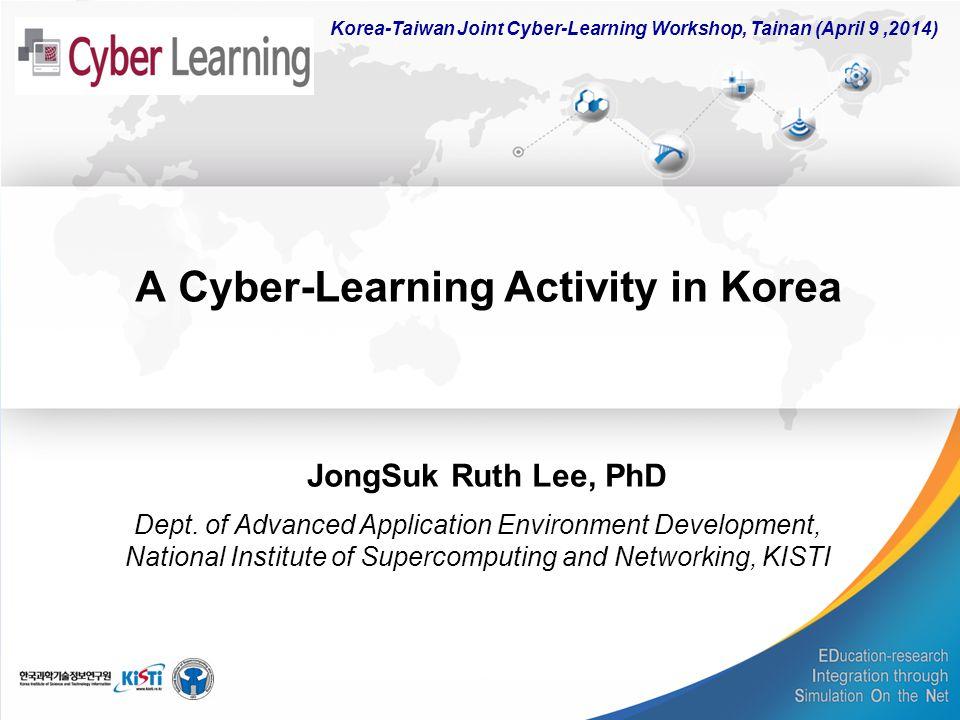 A Cyber-Learning Activity in Korea JongSuk Ruth Lee, PhD Dept.