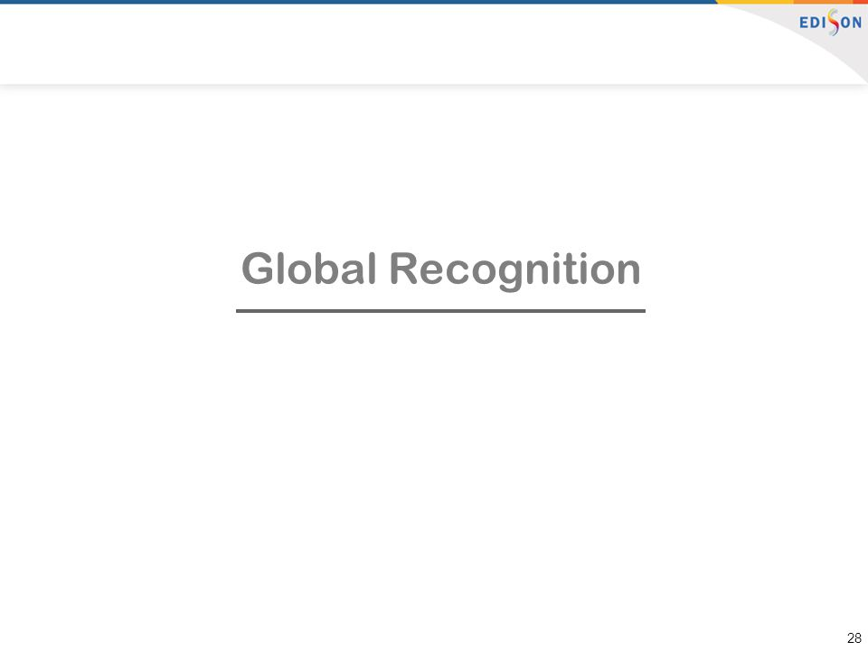 Global Recognition 28