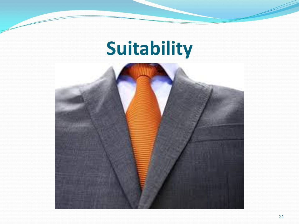 Suitability 21
