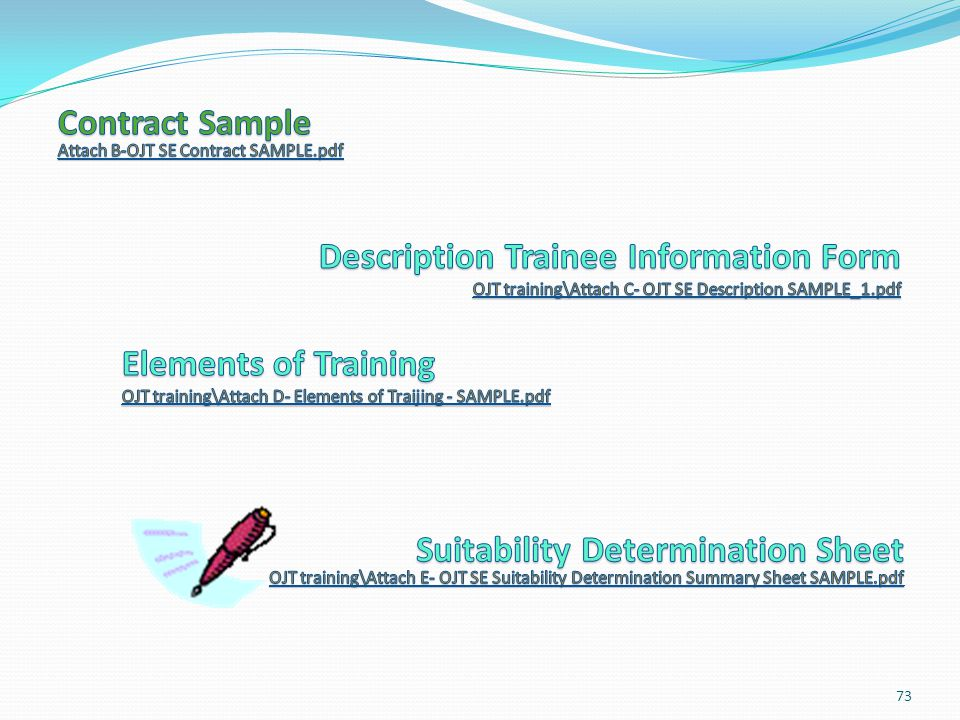 Contract Log OJT training\Copy of OJT Contract Log - SAMPLE_1.pdf OJT training\Copy of OJT Contract Log - SAMPLE_1.pdf 74