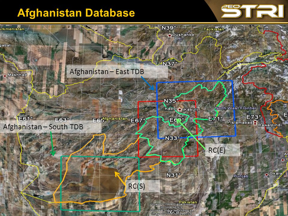34 Afghanistan Database RC(S) RC(E) Afghanistan – East TDB Afghanistan – South TDB