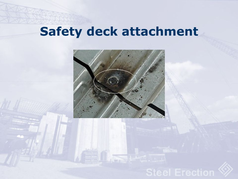 Framed metal deck openings Must be turned down to allow continuous deck installation except where not allowed by structural design.