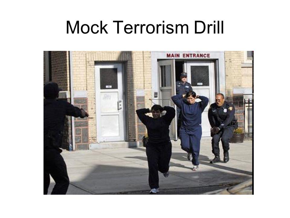 Mock Terrorism Drill