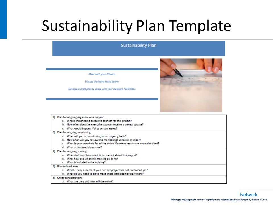 Sustainability Plan Template