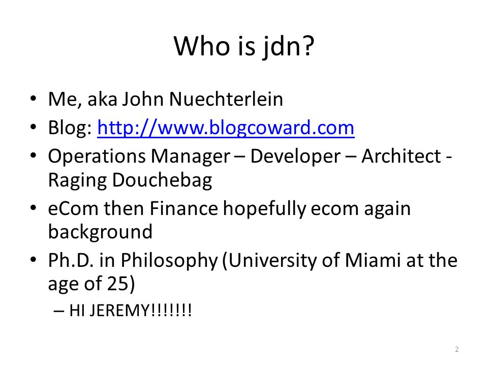 Who is jdn.