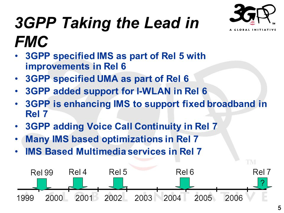 16 Uptake of IMS for FMC Adopted by many organizations –3GPP2 (MDN) –TISPAN NGN Rel 1 (and subsequent releases) –ATIS NGN Focus Group –ITU-T SG19 (FMC) –Cablelabs (Packetcable 2.0)