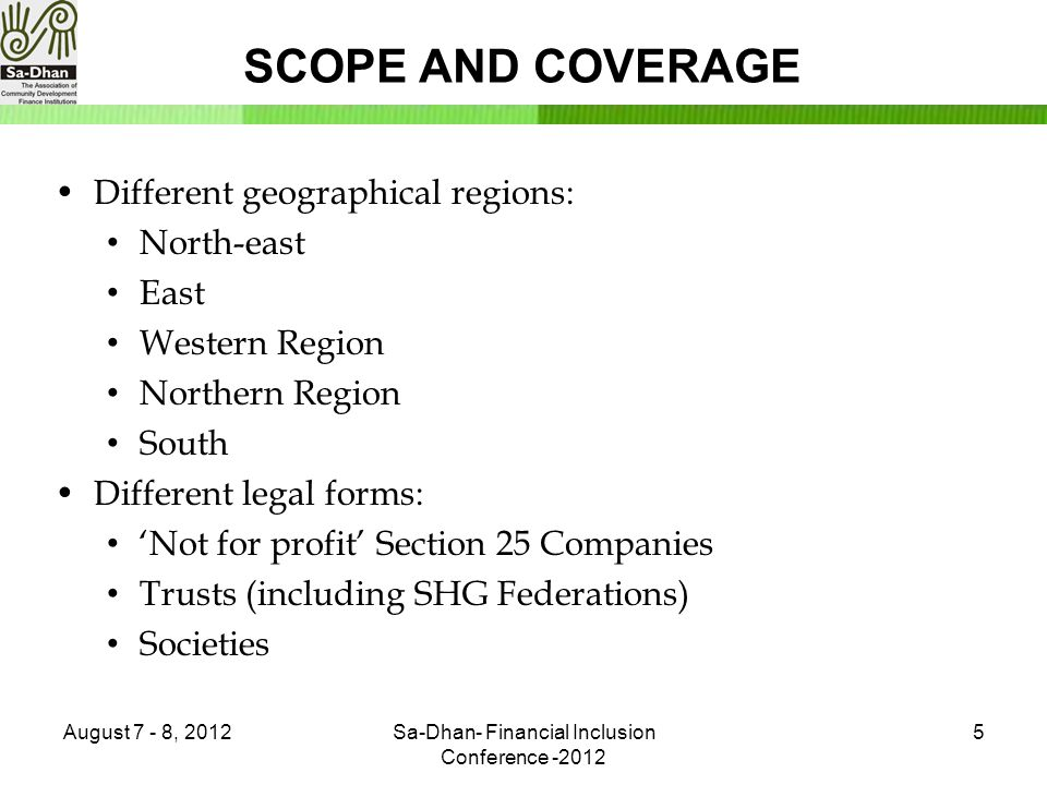 SCOPE AND COVERAGE Contd… Other Important stake holders: Clients and non clients Govt.