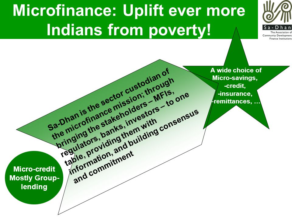 Microfinance: Uplift ever more Indians from poverty.