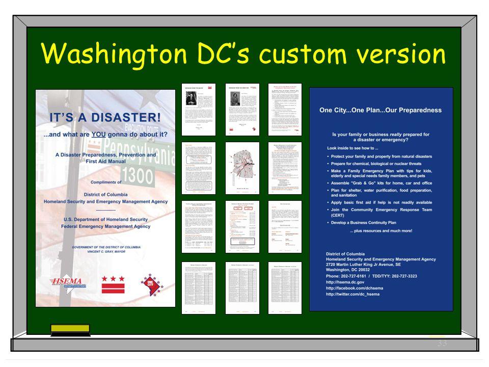 33 Washington DC's custom version